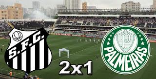 Santos 2x1 Palmeiras