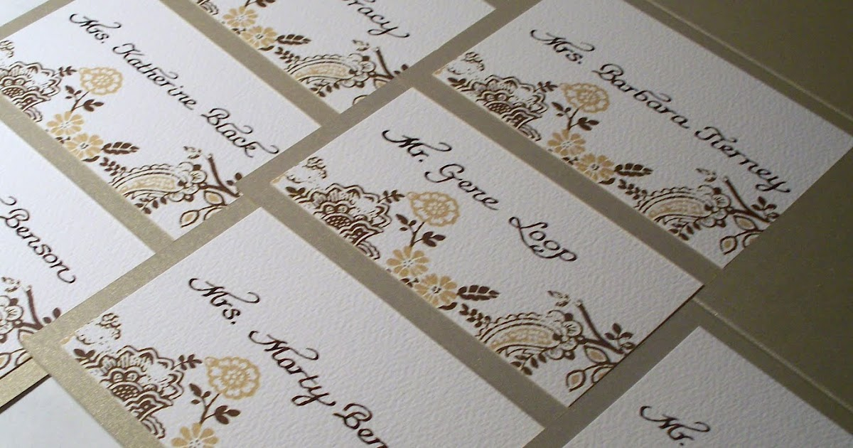 From The Ash Tree Meadow Calligraphy For Place Cards
