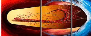 Tripticos Modernos Abstractos Cuadros
