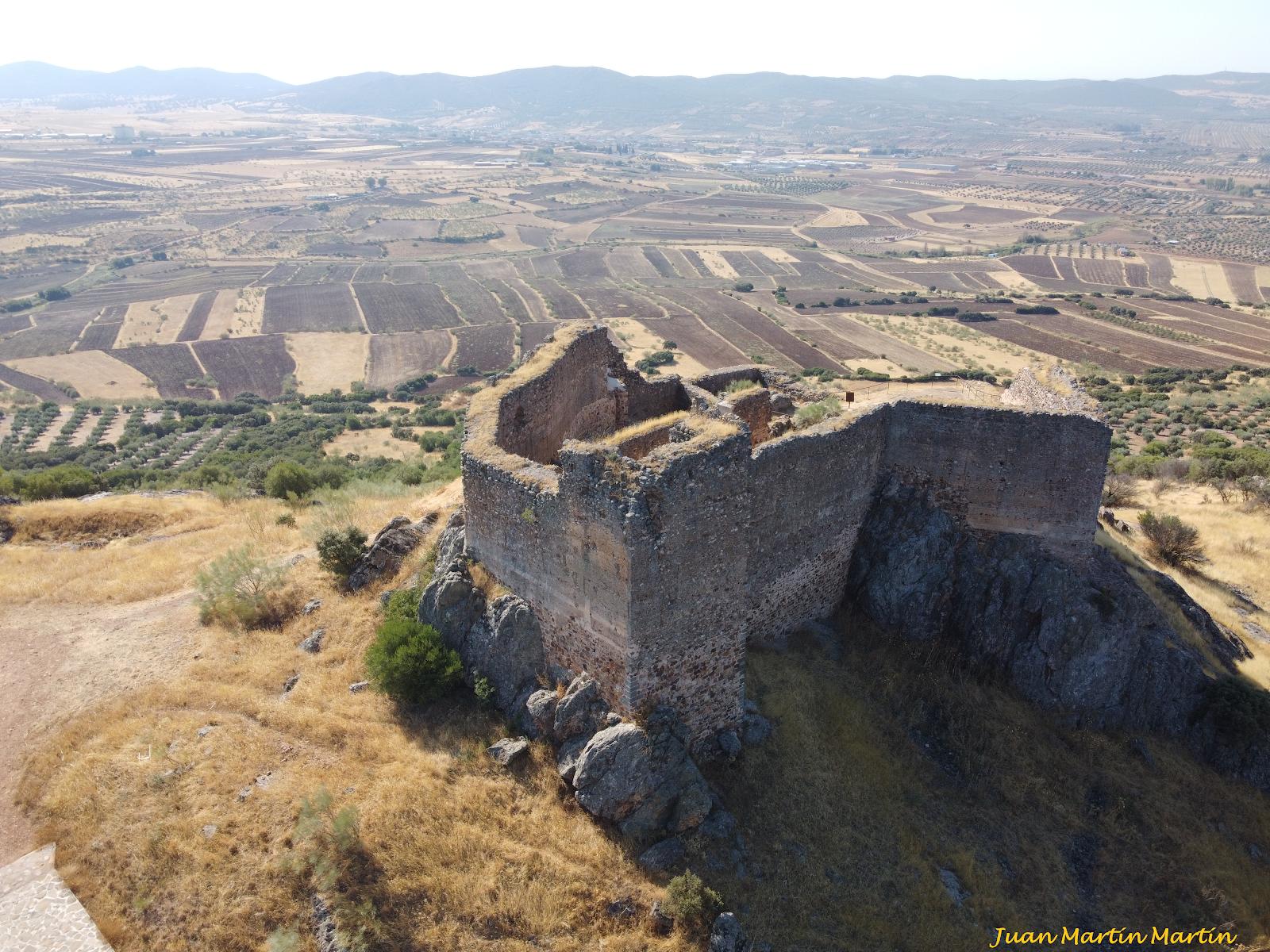 El castillo de Miraflores a vista de drone.