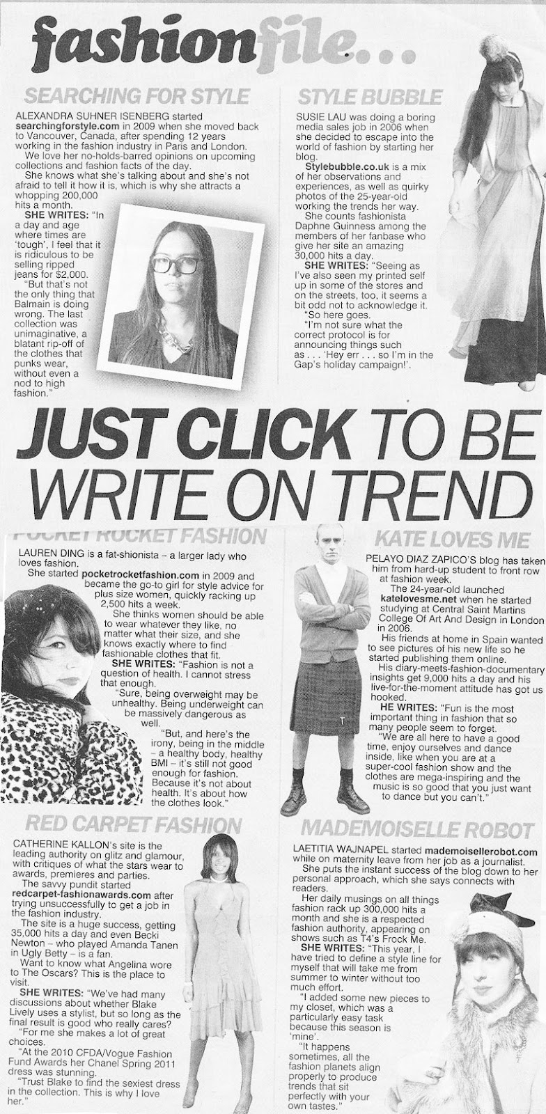 The Sun - 2011 - Just Click To Be Write On Trend