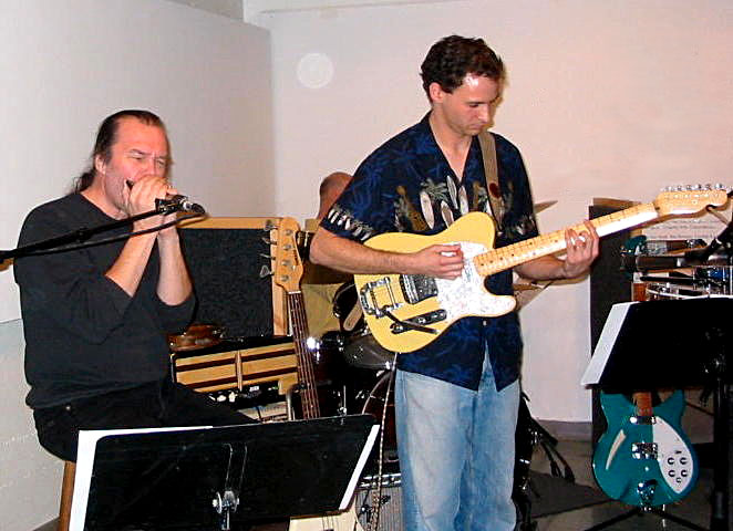 Art Jarvinen playing harmonica, Robert Jacobson playing guitar - The Invisible Guy