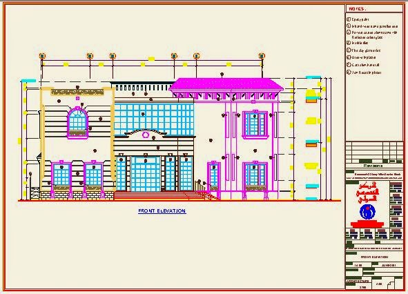 Front Elevation Residential Building Autocad : Residential plans vella dwg architect and structural