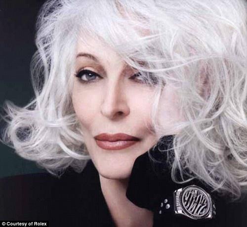 Cheveux blanc mannequin