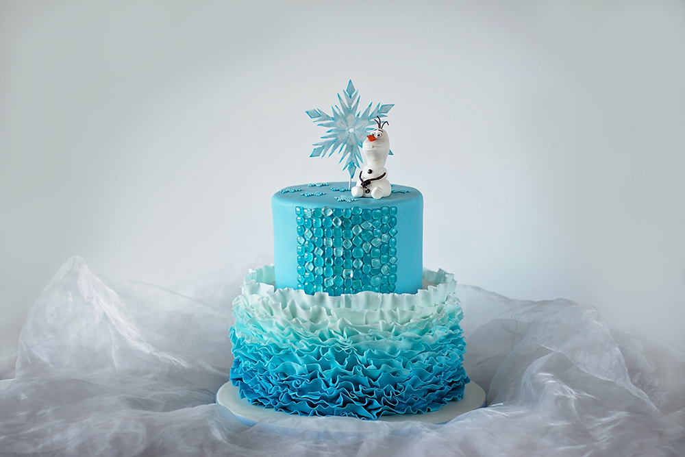 pictures of disney frozen cakes