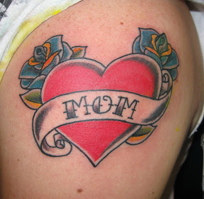 Classic Mom Heart Tattoo