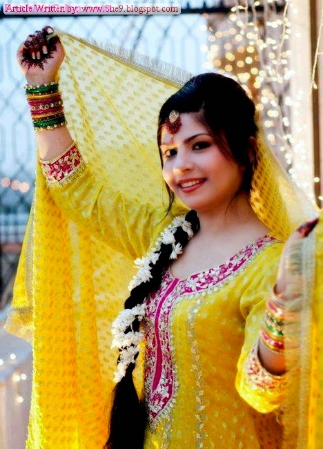 Latest Bridal Hairstyles 2014 For Mehndi Function She9