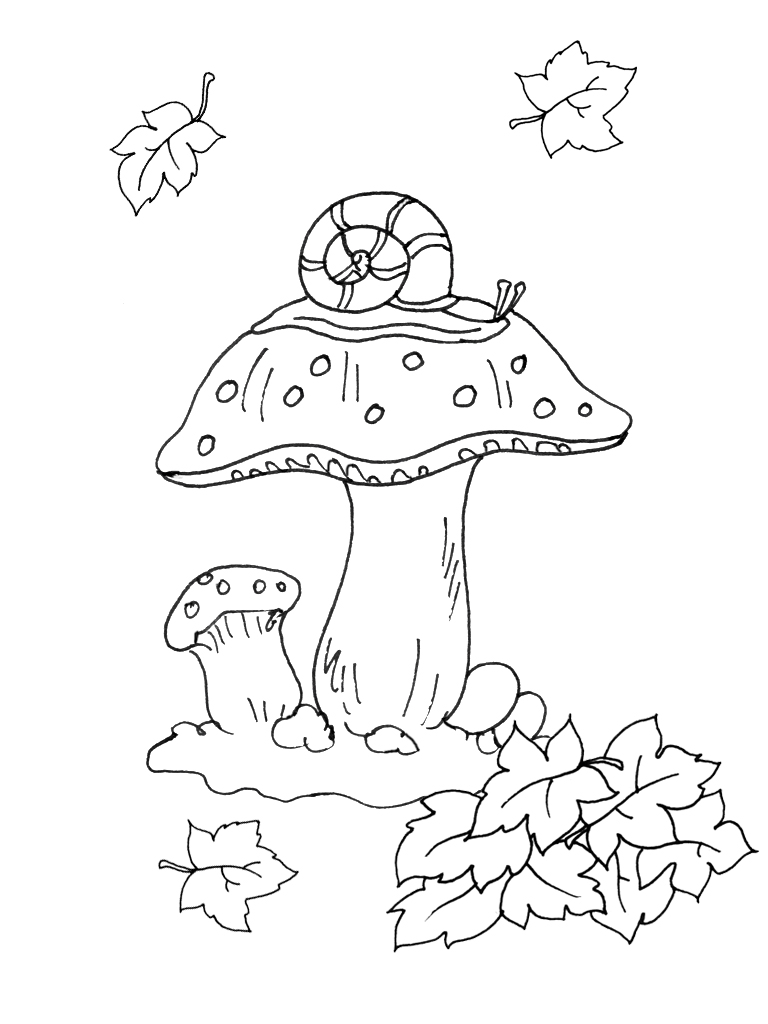 Раскраски осень для детей 5 6 лет - 4