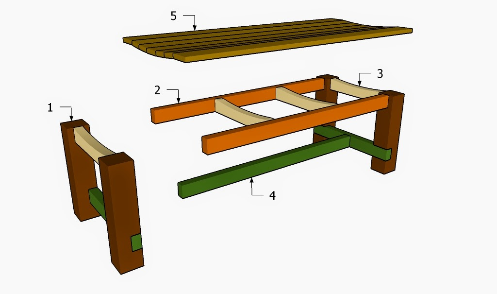 Picnic table plans how to build a garden bench for How to build a patio table