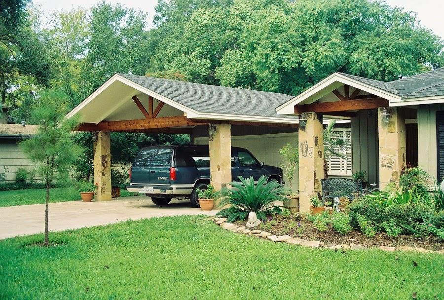 Decor front yard wood carports are wonderful addition for Carport additions