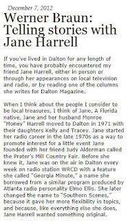 Dalton GA's Favorite Storyteller: Jane Harrell