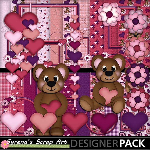 Syrenas place teddy bear love digital scrapbook set now live teddy bear love digital scrapbook set now live fandeluxe Ebook collections