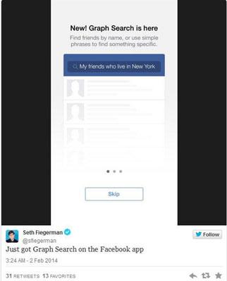 Facebook Graph Search Segera Hadir Versi Mobile