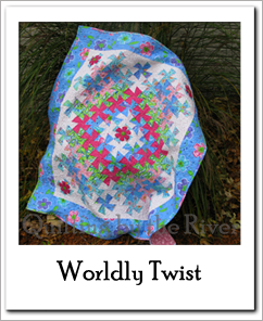 Worldly Lil Twister quilt Free Tutorial at Freemotion by the River