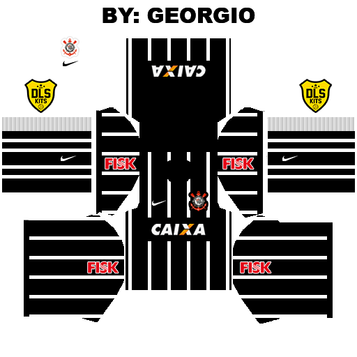 Dream League Soccer Kits: Corinthians 2015 Kits - By: Georgio Ferreira