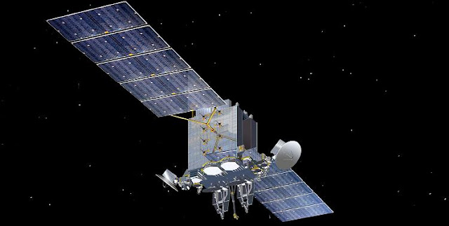 Satellites like Lockheed's Advanced Extremely High Frequency (AEHF) system are highly capable, but if the Air Force has its way, they would give way to smaller, more dispersed systems. (Lockheed Martin)