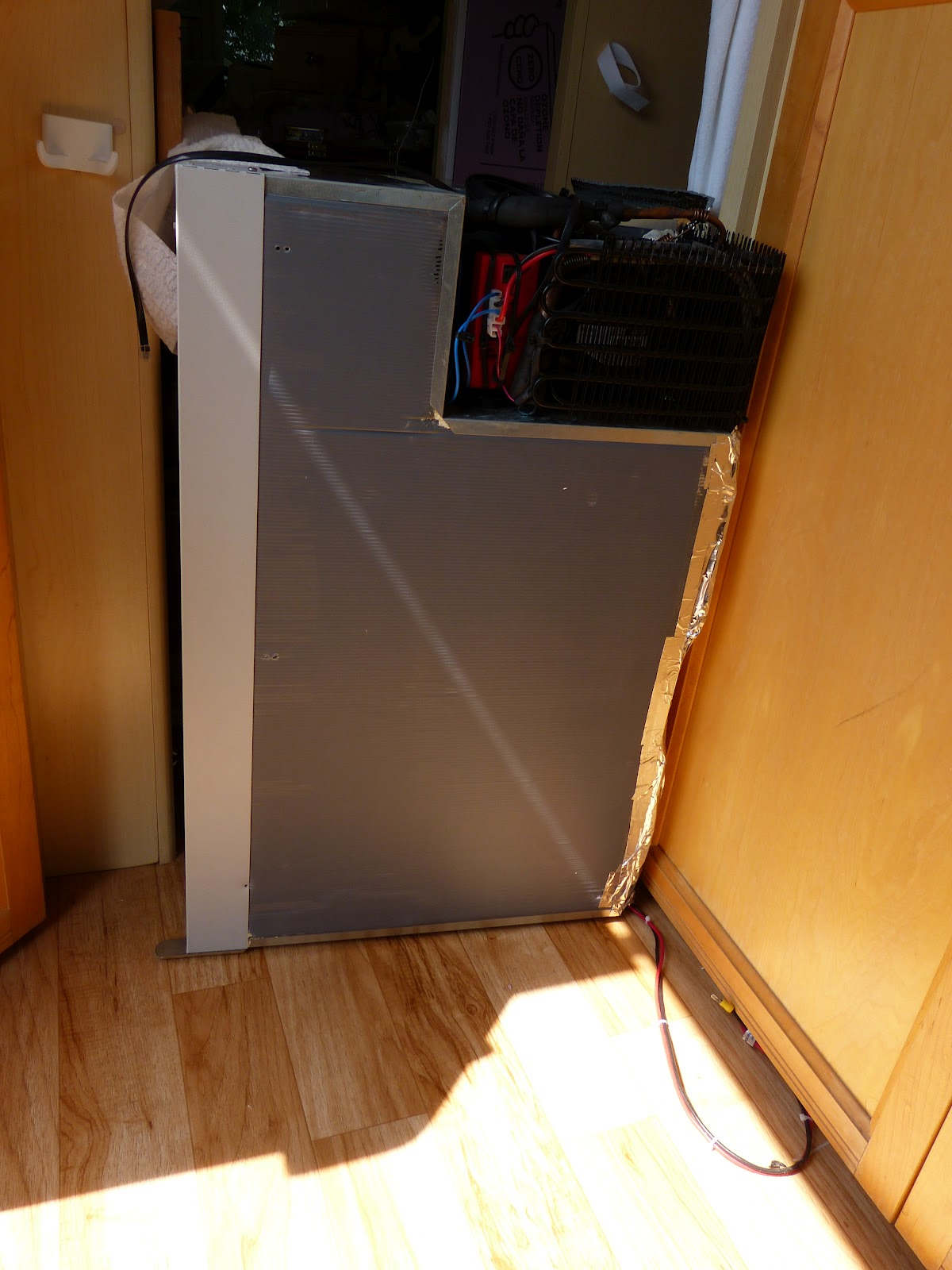The Original Construction Of Cavity In My Van Had A 3 Deep Shelf Support Back Meant To Provide Seal For Old Propane Refrigerator