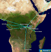 Rwandair's Network