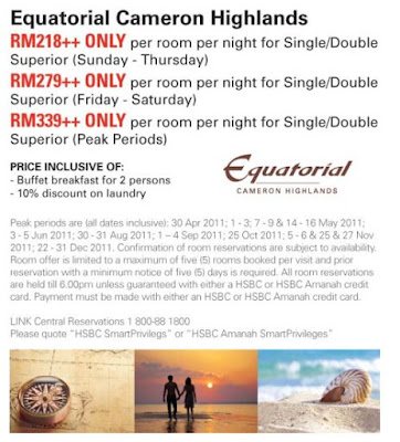 Equatorial Cameron Highlands HSBC Promotion 2011<br />