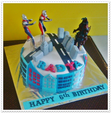 deIr Cakes Ultraman Birthday cake