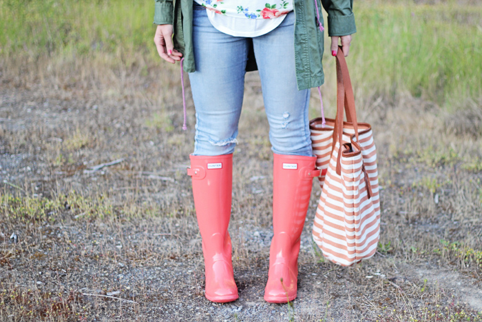 Florals, stripes and... well, rainboots. Duh! - Twist Me Pretty