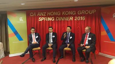 《投資房託全手冊》作者楊書健,出席澳紐會計師公會的春節晚會,與其他業界同仁討論了香港房地產的前景。