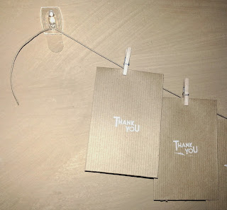 Hook to string up the Thank You Note Garland