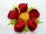 3-d Red Rose
