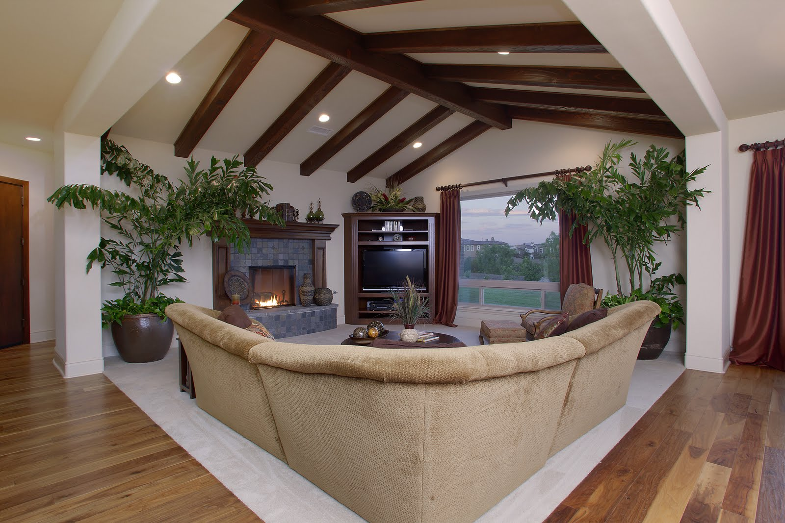 Open beam ceilings for Adding wood beams to ceiling