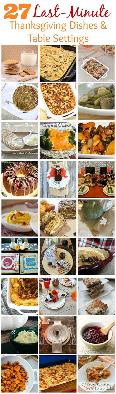 27 Last Minute Thanksgiving Dishes & Table Settings pitterandglink.com