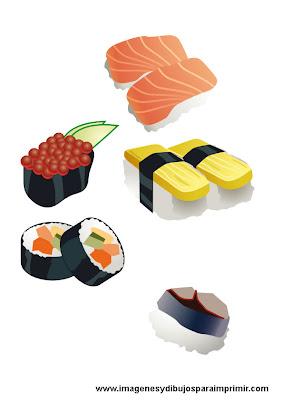 Sushi para imprimir