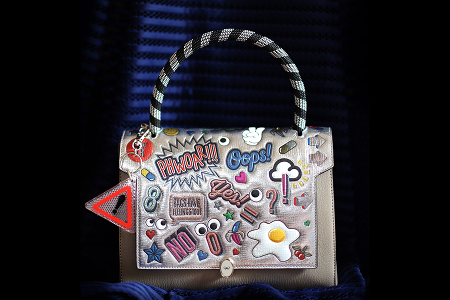 Anya Hindmarch Bathurst Satchel with All-Over Stickers