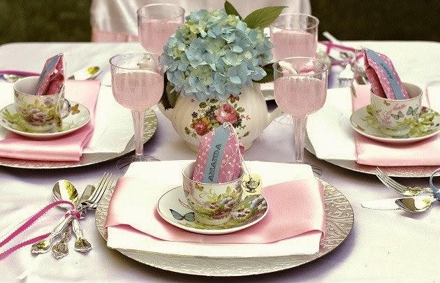 Beautiful bridal tea party centerpiece ideas