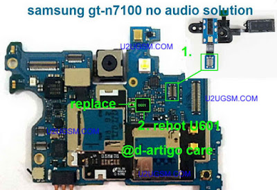 Samsung galaxy Note ii N7100 no audio re hot this connector or change this.
