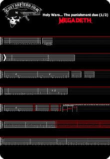 Tablaturas Guitarra Holy wars the punishment due Megadeth