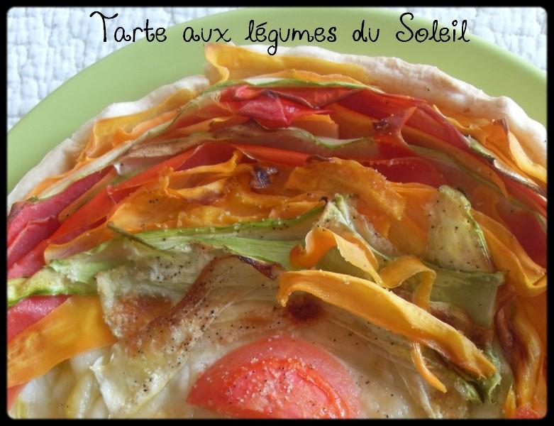 Les d lices d 39 alice tarte aux l gumes du soleil - Tarte soleil sucree originale ...