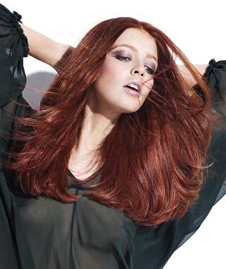 peinados+de+pelo+rojo+borgoña