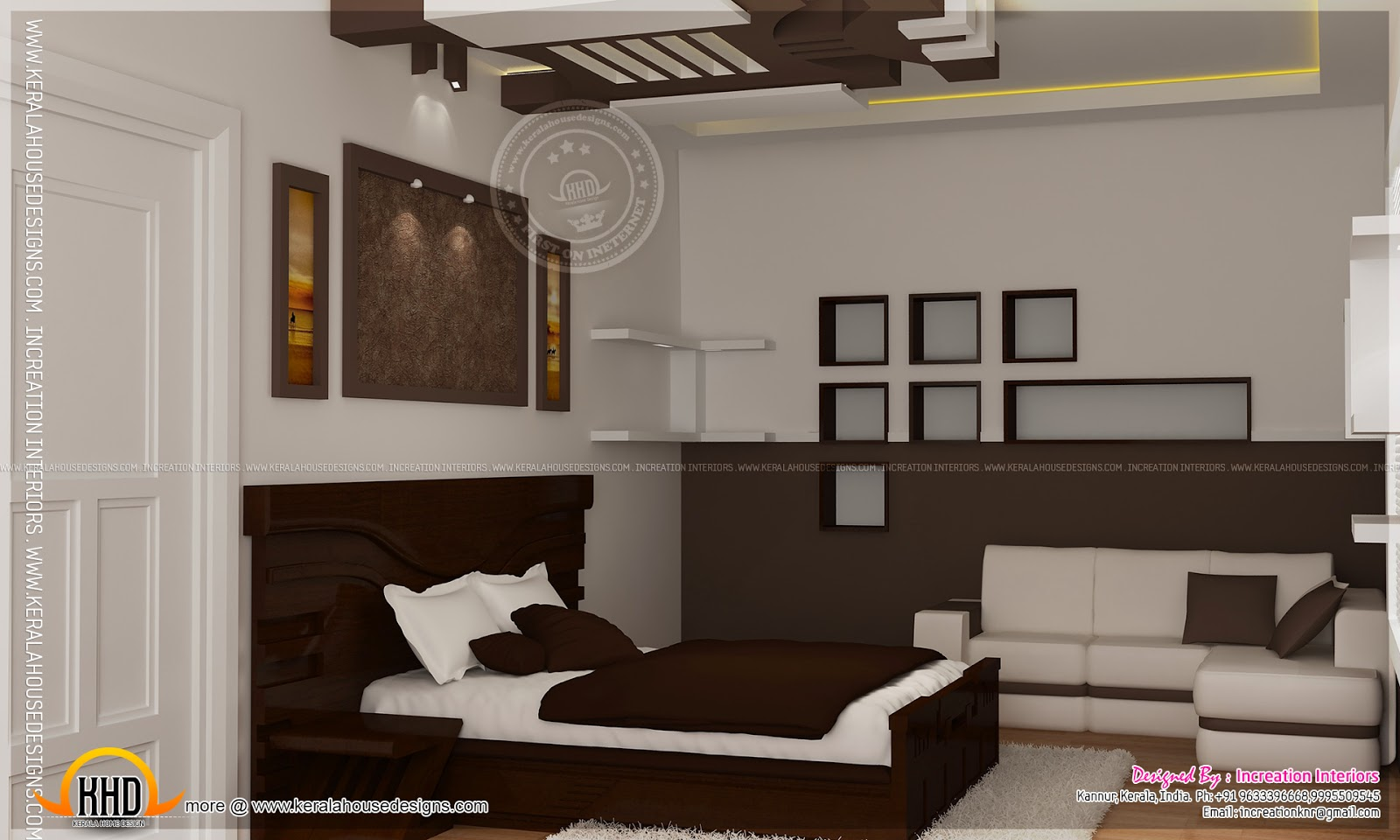 January 2014 kerala home design and floor plans for 1 bhk living room interior
