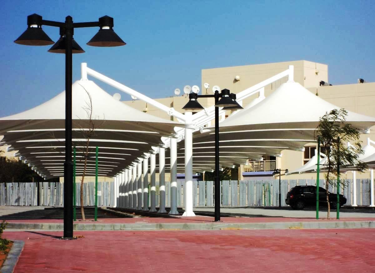 Car Park Shade Structures Qatar Car Park Qatar Single Pole
