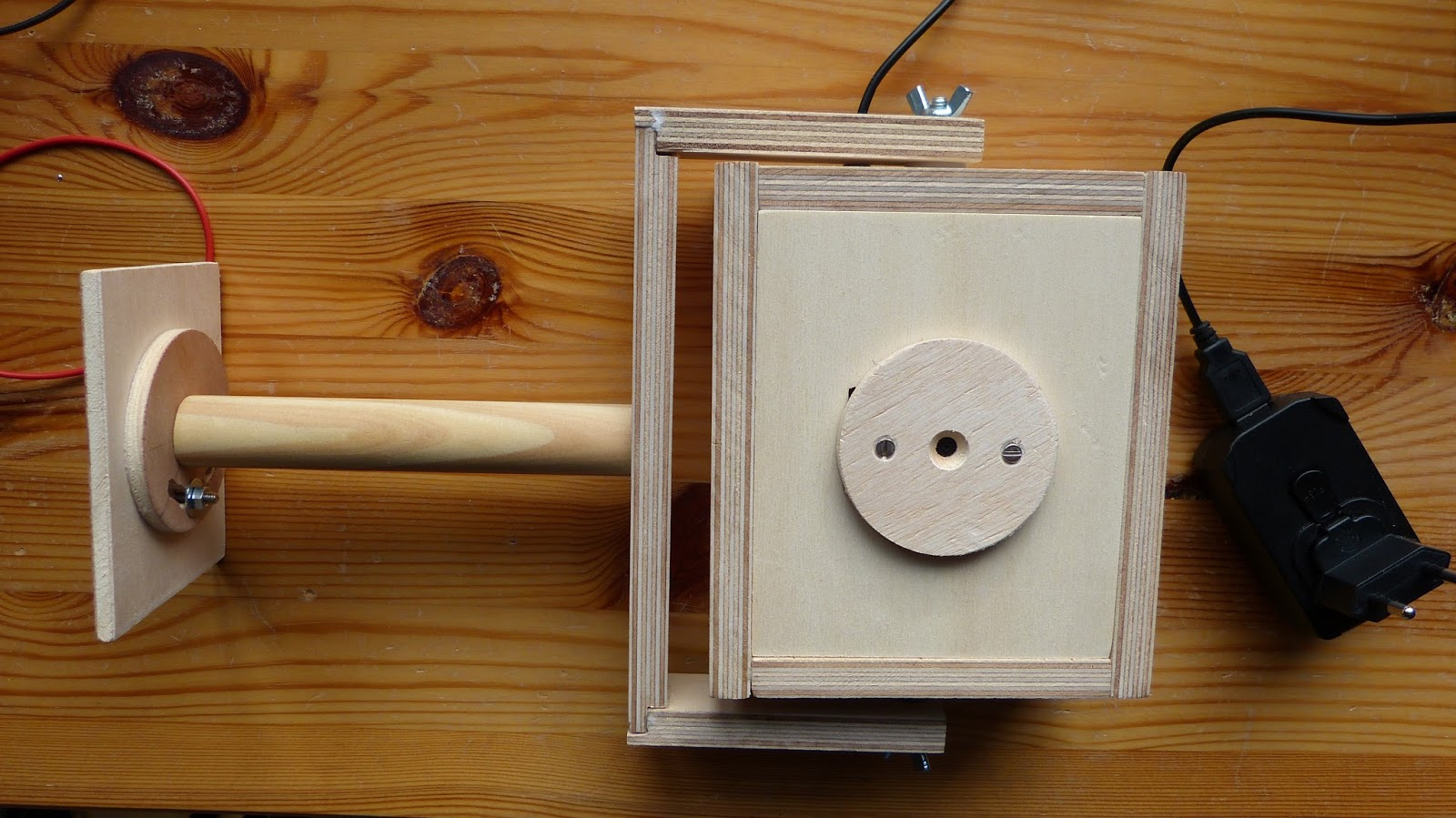 plywood housing for the homemade security camera