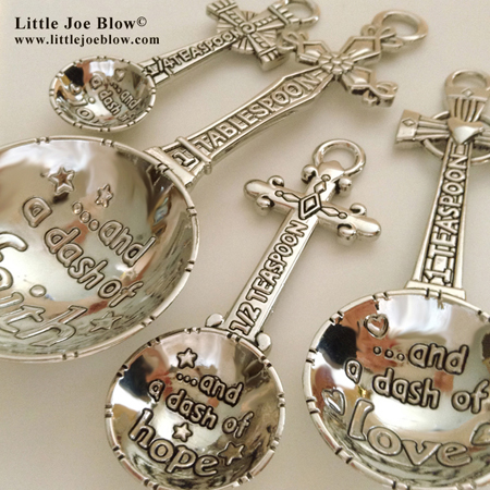 Dash of Love, Joy, Faith & Hope | Cross Measuring Spoons sold by Little Joe Blow photo 3