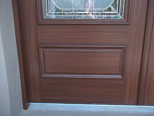 Painting front doors to look like wood everything i for Paint garage door to look like wood