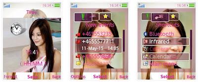 江語晨SonyEricsson手機主題for Elm/Hazel/Yari/W20﹝240x320﹞