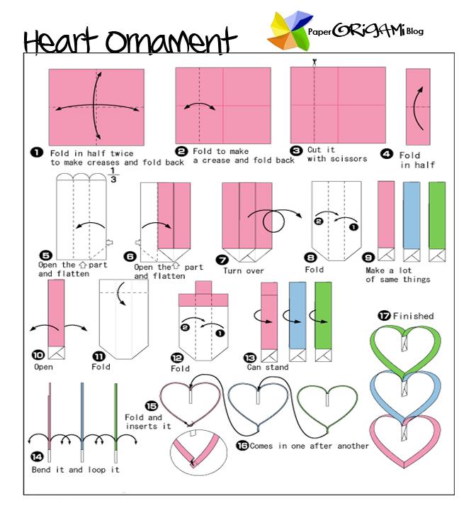 star festivel origami hearts ornament paper origami guide