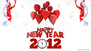 Free Download Happy New Year 2012 Baloons Wallpaper