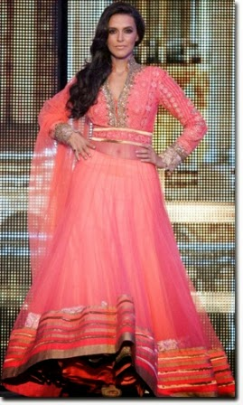 Neha Dhupia in Anarkali suit