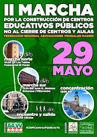 II Maarcha por la construcción de centros educativos públicos