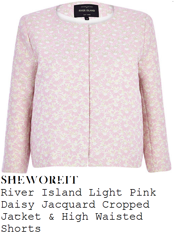 jessica-wright-light-pink-daisy-floral-jacquard-cropped-tailored-jacket-and-high-waisted-shorts-suit