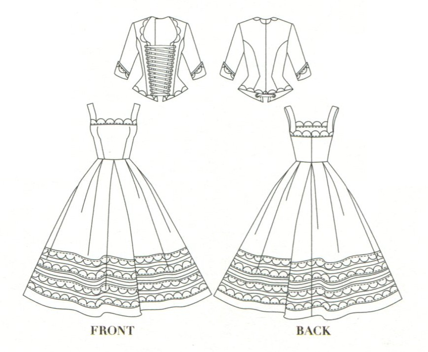 SD size JSK Dress and Corset Top BJD Clothes Pattern PDF
