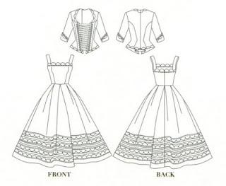sd size jsk dress and corset top bjd clothes pattern pdf